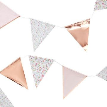 Rose Gold & Ditsy Floral Bunting - 3.5m